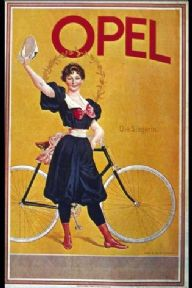 Vintage cycling advertisment poster - Opel